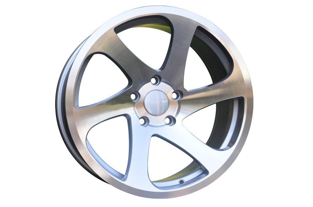 RACING LINE RBK880 hliníkové disky 8,5x18 5x112 ET35 MS - Polished Silver